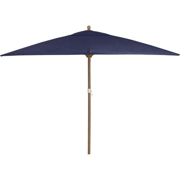 Rectangular Sunbrella® Indigo Umbrella with Eucalyptus Frame