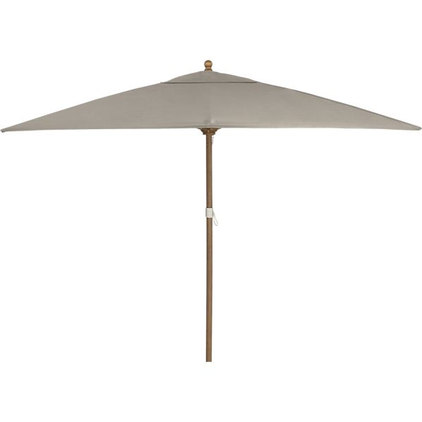 Rectangular Sunbrella® Stone Umbrella with Eucalyptus Frame