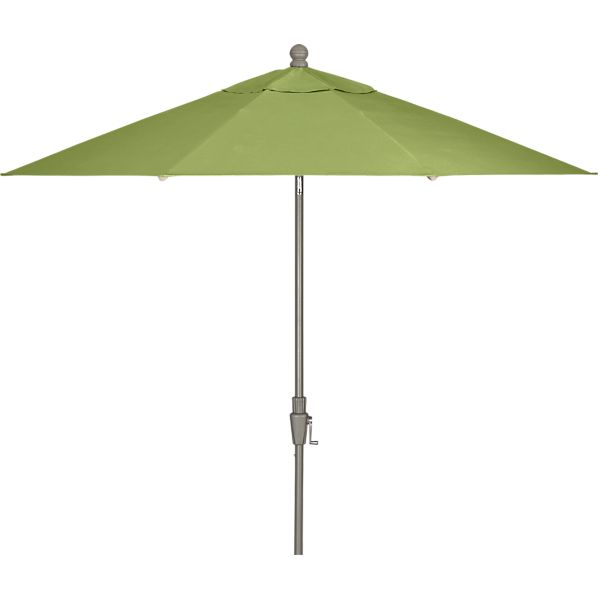 9' Round Sunbrella® Kiwi Umbrella with Silver Frame