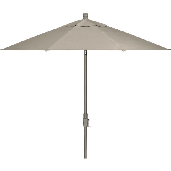 9' Round Sunbrella® Stone Umbrella with Charcoal Frame