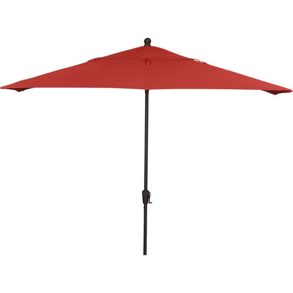 Rectangular Sunbrella® Caliente Umbrella with Bronze Frame
