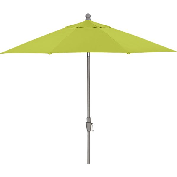 9' Round Sunbrella® Apple Umbrella with Silver Frame