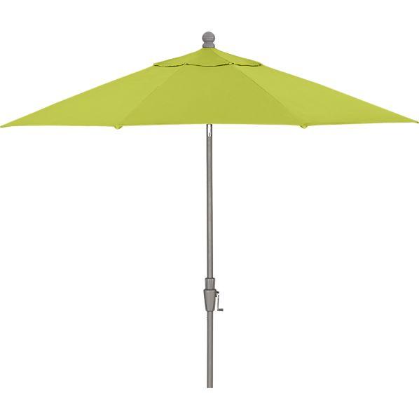 9' Round Sunbrella ® Apple Umbrella with Silver Frame