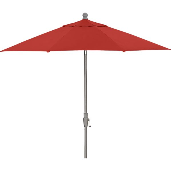 9' Round Sunbrella® Caliente Umbrella with Silver Frame