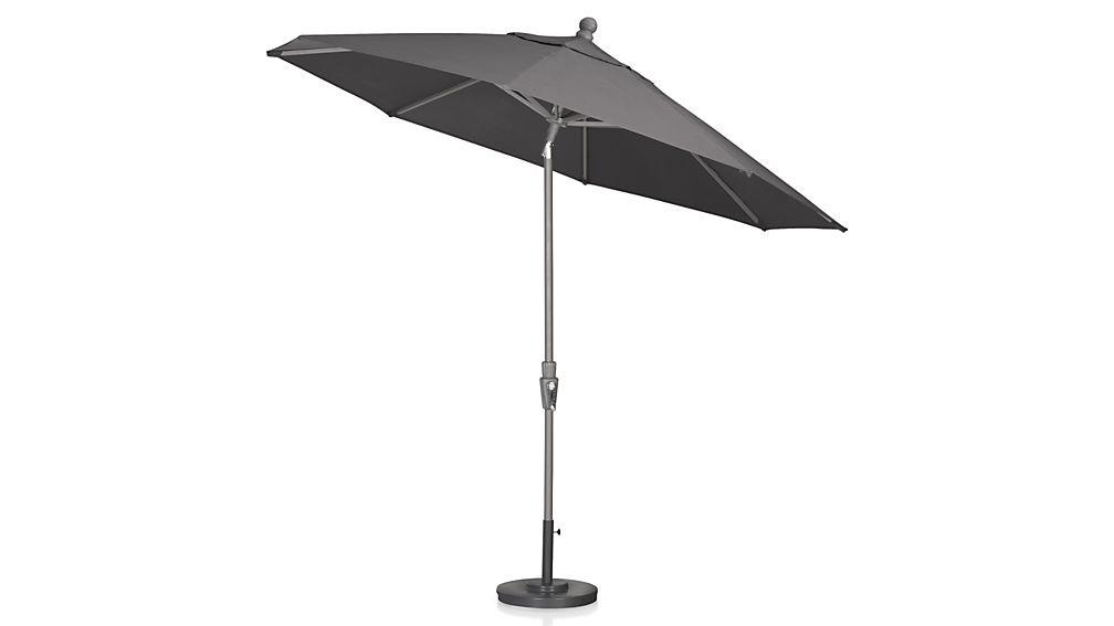 9' Round Tilt Silver Umbrella Frame