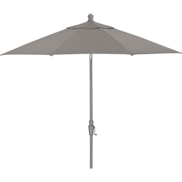 9' Round Sunbrella® Graphite Umbrella with Silver Frame