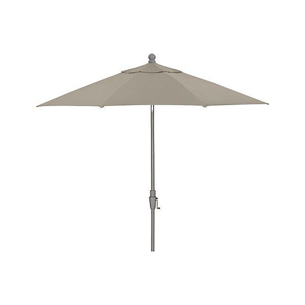 9' Round Sunbrella ® Stone Umbrella with Tilt Silver Frame