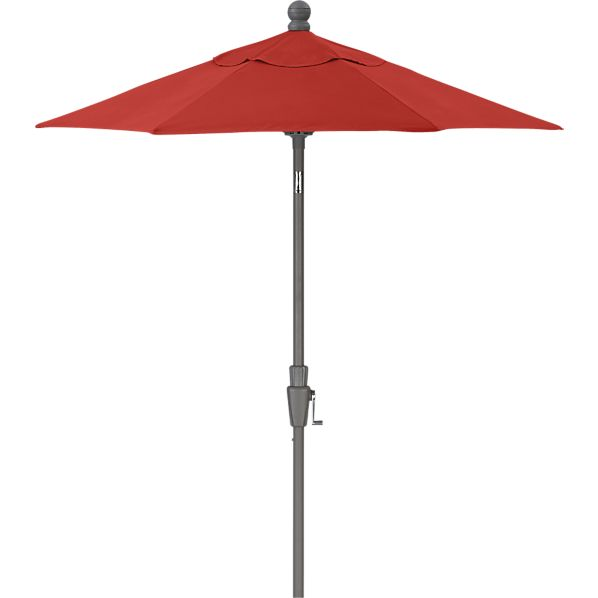 6' Round Sunbrella® Caliente High Dining Umbrella with Silver Frame