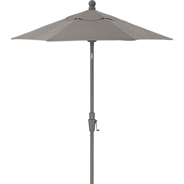 6' Round Sunbrella® Graphite High Dining Umbrella with Silver Frame
