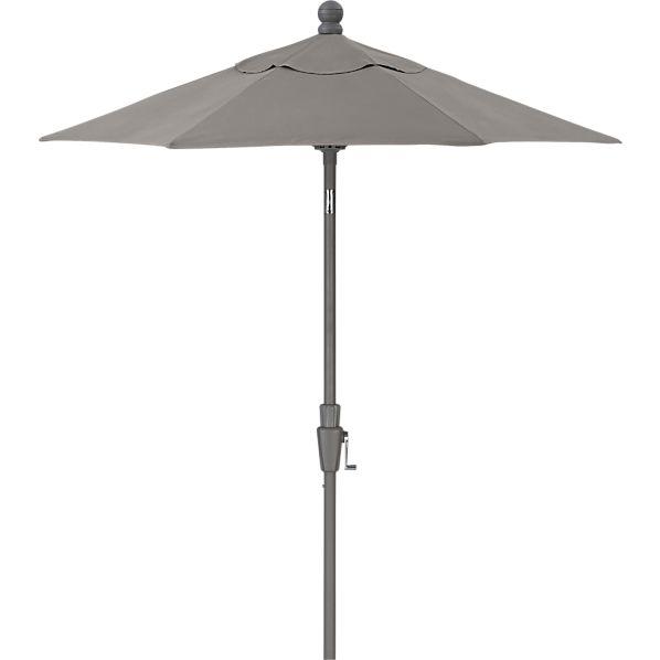 6' Round Sunbrella ® Graphite High Dining Umbrella with Silver Frame