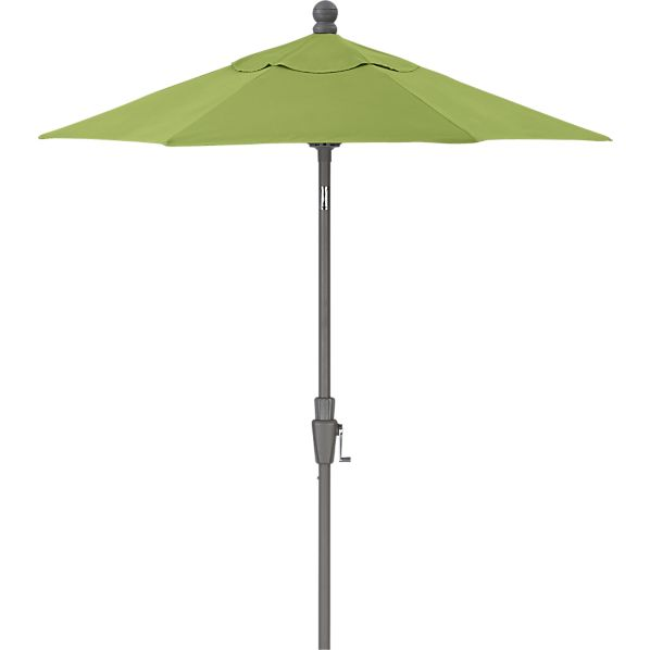 6' Round Sunbrella® Kiwi High Dining Umbrella with Silver Frame