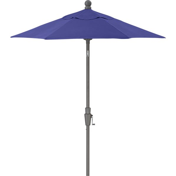 6' Round Sunbrella® Marine High Dining Umbrella with Silver Frame
