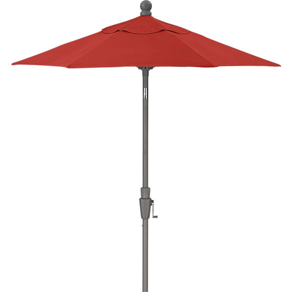 6' Round Sunbrella® Caliente Umbrella with Silver Frame