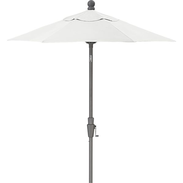 6' Round Sunbrella® Eggshell Umbrella with Silver Frame