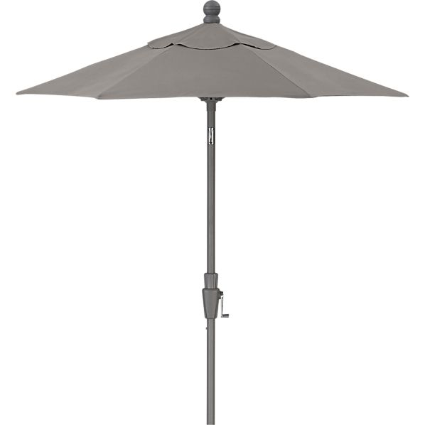 6' Round Sunbrella® Graphite Umbrella with Silver Frame
