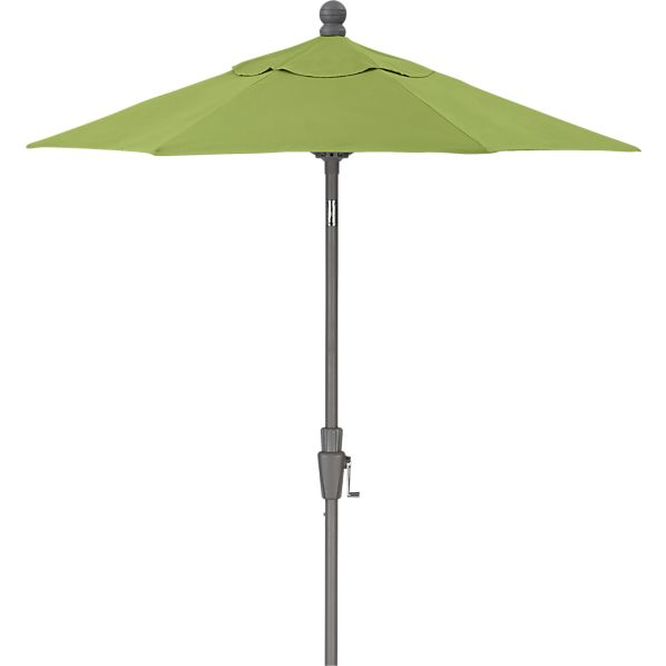 6' Round Sunbrella® Kiwi Umbrella with Silver Frame