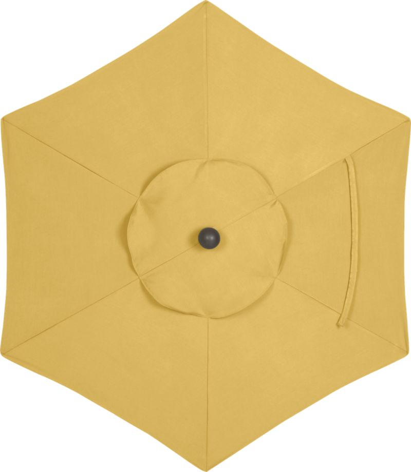 A sunny daffodil canopy in fade- and mildew-resistant Sunbrella® acrylic blocks out 98% of the sun's rays. Fits our 6' round frames. (Frames and stands sold separately)<br /><br /><NEWTAG/><ul><li>Cover: fade- and mildew-resistant Sunbrella acrylic umbrella (fits our 6' round frames; spot clean)</li><li>Made in USA</li></ul><br />