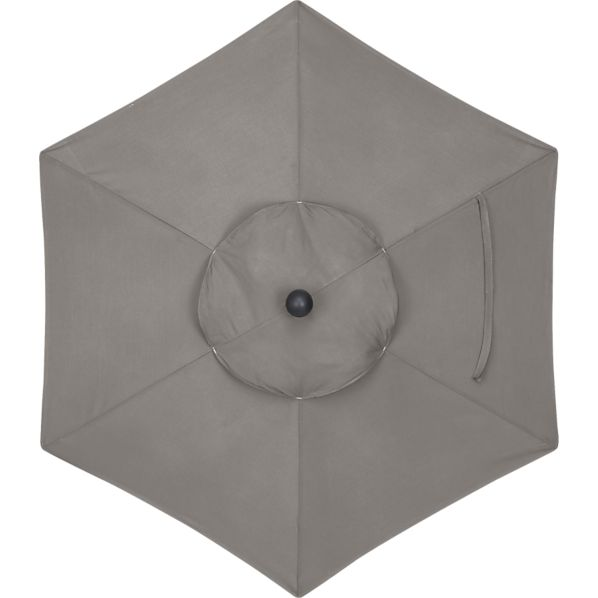 6' Round Sunbrella ® Graphite Umbrella Cover