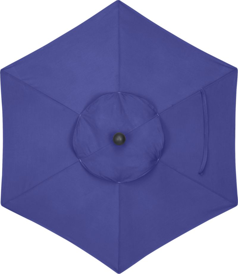 A marine blue canopy in fade- and mildew-resistant Sunbrella® acrylic blocks out 98% of the sun's rays. Fits our 6' round frames. (Frames and stands sold separately).<br /><br /><NEWTAG/><ul><li>Cover: fade- and mildew-resistant Sunbrella acrylic umbrella (fits our 6' round frames; spot clean)</li><li>Made in USA</li></ul><br />