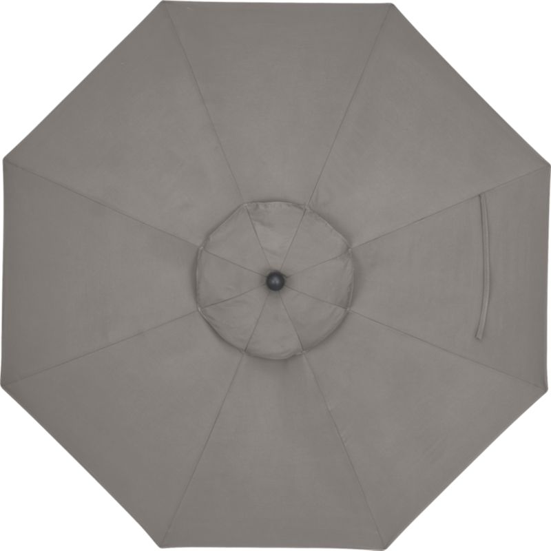 A chic graphite canopy in fade- and mildew-resistant Sunbrella® acrylic blocks out 98% of the sun's rays. Fits all of our 9' round frames. Frames and stands sold separately.<br /><br /><NEWTAG/><ul><li>Cover: fade- and mildew-resistant Sunbrella acrylic umbrella (fits all 9' round frames; spot clean)</li><li>Frames (sold separately): aluminum tilt with bronze or charcoal finish</li><li>Made in China</li></ul><br />