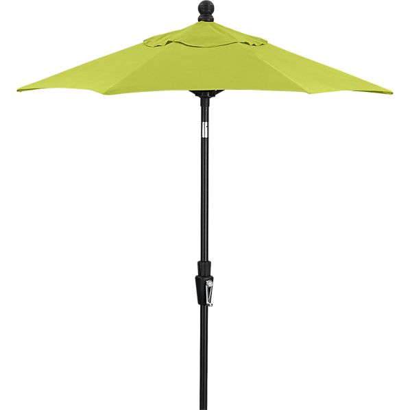 6' Round Sunbrella ® Apple Umbrella with Black Frame