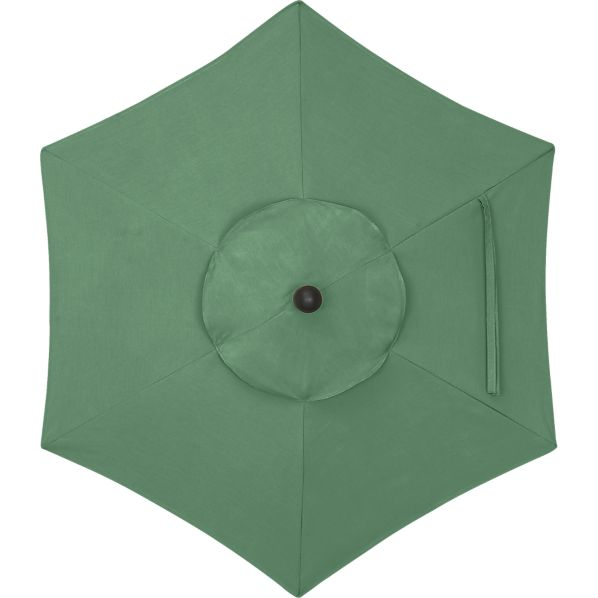 6' Round Sunbrella® Bottle Green Umbrella Cover