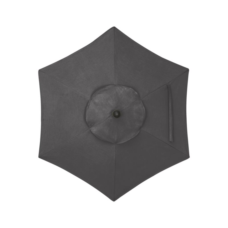 "A chic charcoal canopy in fade- and mildew-resistant Sunbrella® acrylic blocks out 98% of the sun's rays. Fits our 6' round frames. For frame and stand options with this cover, see below (frames and stands sold separately).<br /><br /><NEWTAG/><ul><li>Cover: fade- and mildew-resistant Sunbrella acrylic umbrella (fits our 6' round frames; spot clean)</li><li>Frames (sold separately): aluminum tilt with black finish; 90""H for dining table or 94""H for high dining table</li><li>Stands (sold separately): rustproof poly resin and stone-polyester mixture, in charcoal finish</li><li>Small stand accommodates all our aluminum umbrella frames and 9' round eucalyptus frame"