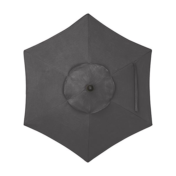 6' Round Sunbrella ® Charcoal Umbrella
