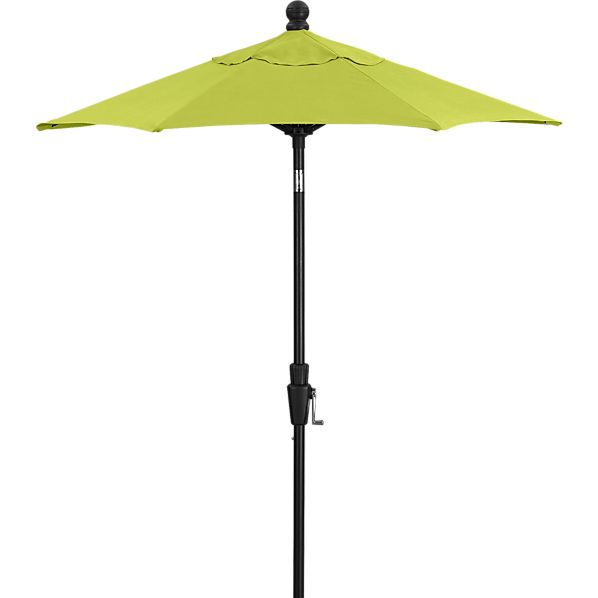 6' Round Sunbrella® Apple High Dining Umbrella with Black Frame