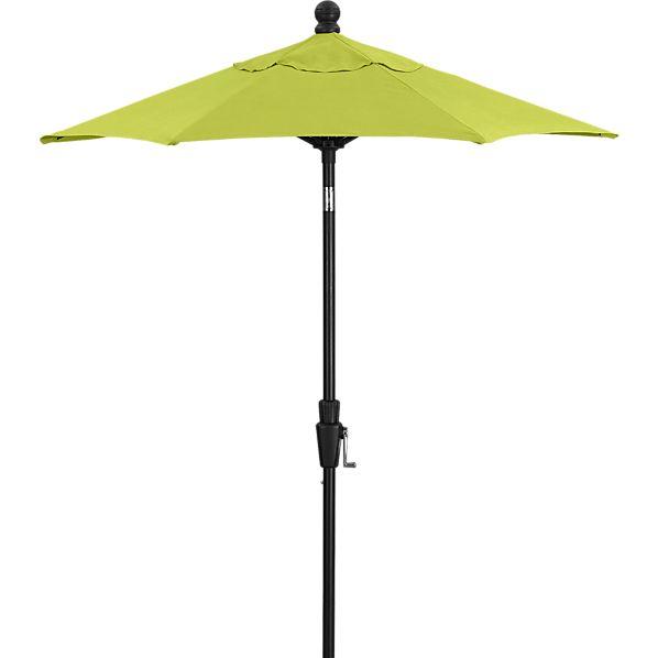 6' Round Sunbrella ® Apple High Dining Umbrella with Black Frame