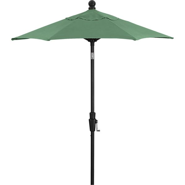 6' Round Sunbrella® Bottle Green Umbrella with Tilt Black Frame