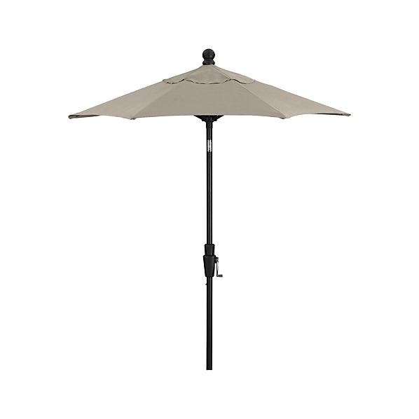 6' Round Sunbrella ® Stone High Dining Umbrella with Tilt Black Frame