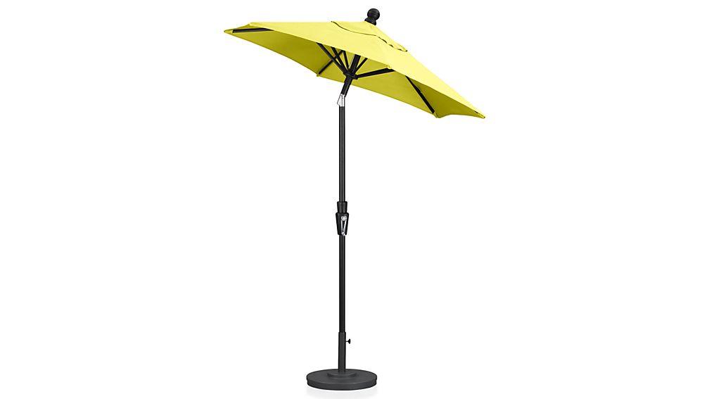 6' Round Sunbrella ® Sulfur Patio Umbrella with Tilt Black Frame