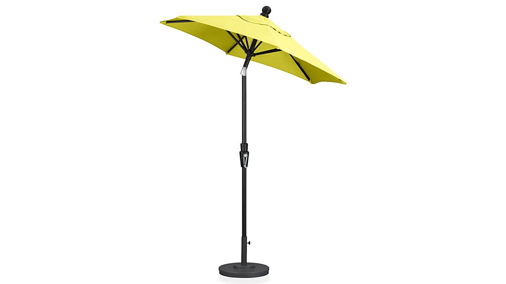 6 Round Sunbrella 174 Sulfur Patio Umbrella With Tilt Black