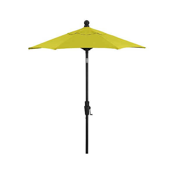 6' Round Sunbrella® Sulfur Umbrella with Tilt Black Frame