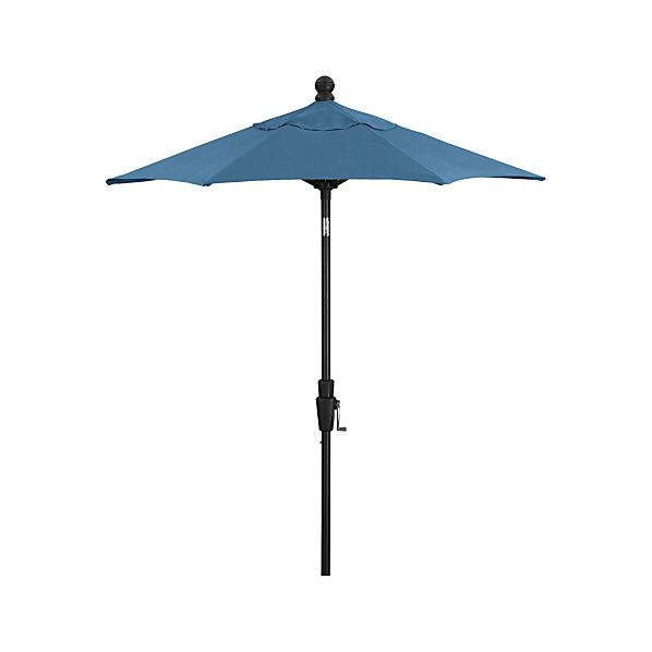 6' Round Sunbrella® Turkish Tile High Dining Umbrella with Tilt Black Frame