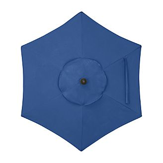 6' Round Sunbrella ® Mediterranean Blue Umbrella Cover