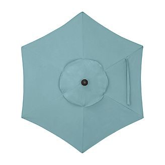 6' Round Sunbrella ® Mineral Blue Umbrella Cover