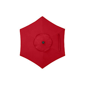 6' Round Sunbrella ® Ribbon Red Umbrella Cover