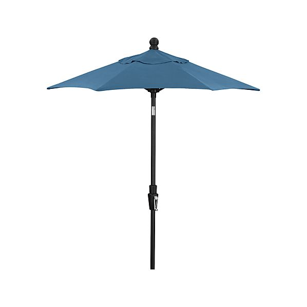 6' Round Sunbrella® Turkish Tile Umbrella with Tilt Black Frame