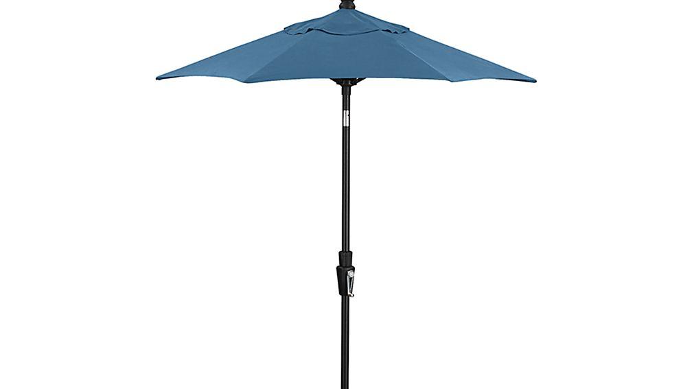Rectangular Sunbrella 174 Turkish Tile Umbrella Canopy In Patio Umbrellas Crate And Barrel