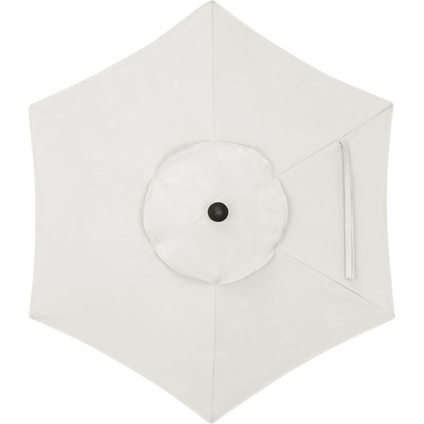 6' Round Sunbrella® White Sand Umbrella Cover