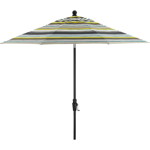 9' Round Arroyo Umbrella with Black Frame