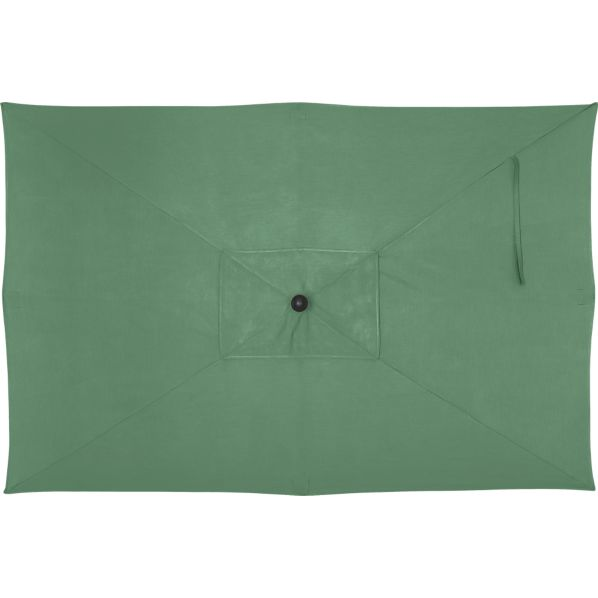 Rectangular Sunbrella® Bottle Green Umbrella Cover