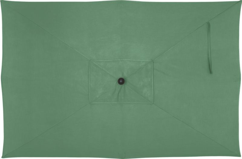 """An oversized, deep green canopy of fade- and mildew-resistant Sunbrella® acrylic blocks up to 98% of the sun's UV rays. Fits all of our rectangular frames. For frame and stand options with this cover, see below (frames and stands sold separately).<br /><br /><NEWTAG/><ul><li>Cover: fade- and mildew-resistant Sunbrella acrylic umbrella (fits all our rectangular frames; spot clean)</li><li>Frames (sold separately): adjustable FSC-certified eucalyptus with solid brass pulley; or aluminum with black finish</li><li>Stands (sold separately): rustproof poly resin and stone-polyester mixture, in charcoal finish</li><li>Small stand accommodates our rectangular umbrellas with metal frames</li><li>Large stand works with any of our umbrella frames: accommodates 1.5""""dia. frame with adapter, or 1.875""""dia. frame without adapter</li><li>Large stand works with a table or on its own</li><li>Made in USA</li></ul>"""