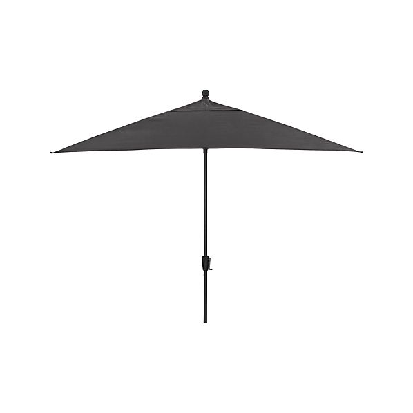 Rectangular Sunbrella ® Charcoal Umbrella with Black Frame