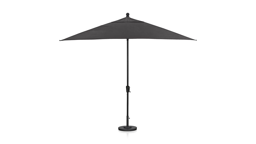 rectangular sunbrella charcoal patio umbrella with black