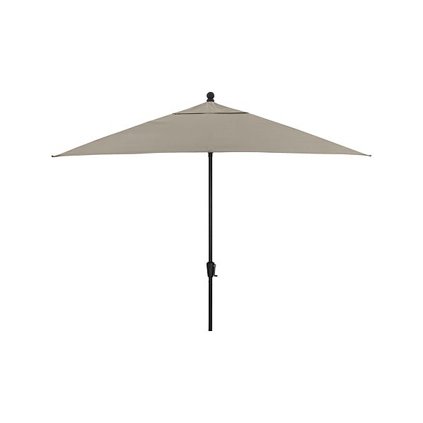 Rectangular Sunbrella® Stone Umbrella with Black Frame