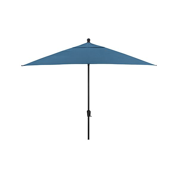 Rectangular Sunbrella® Turkish Tile Umbrella with Black Frame