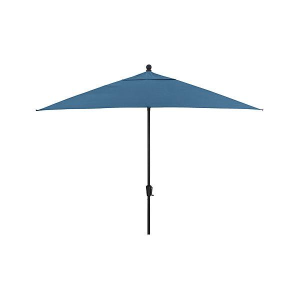 Rectangular Sunbrella ® Turkish Tile Umbrella with Black Frame